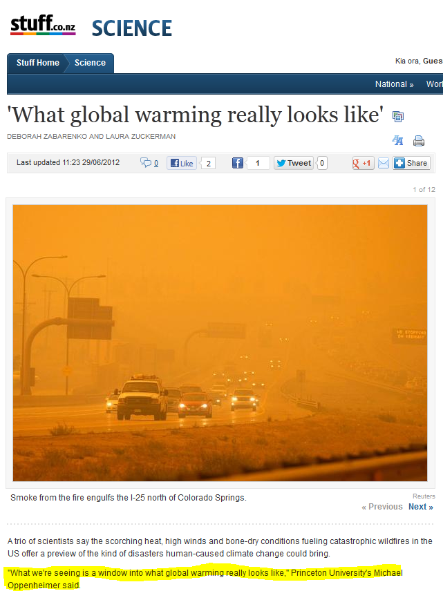 Global warming satire essay