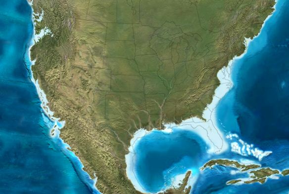 Back To The Future Paradise Lost Or Paradise Regained Watts - Us map after global warming