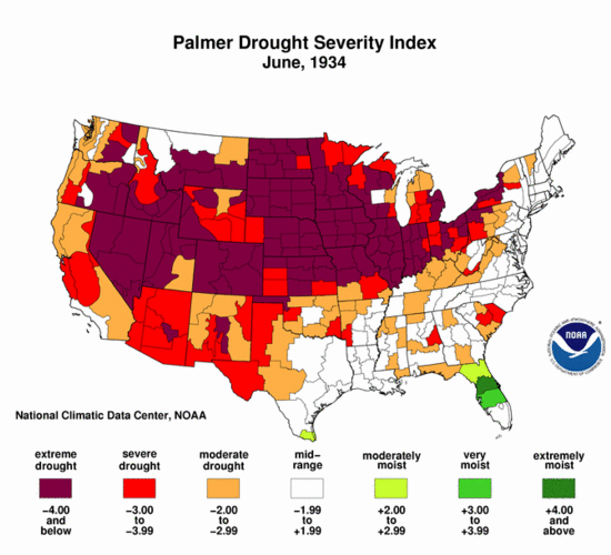 University Of Nebraska Claims Record Drought In The USA Not So - Us dought map 2002