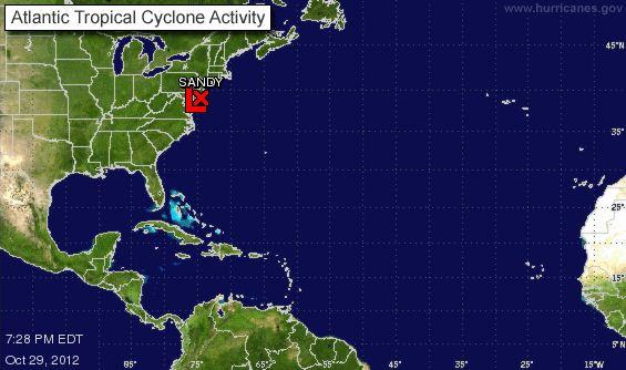 Latest super high resolution image of Hurricane Sandy