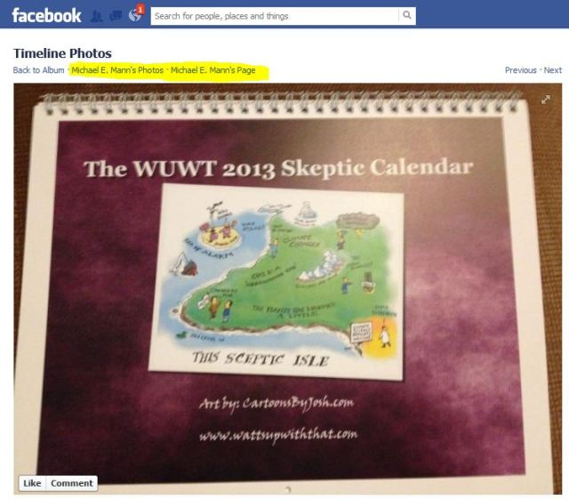 Too Funny! I send Michael Mann a free WUWT calendar as a