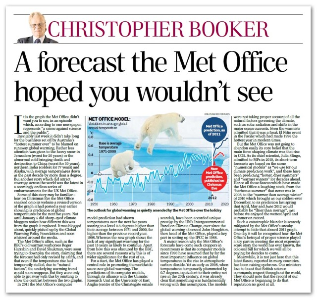 Booker on Met Office