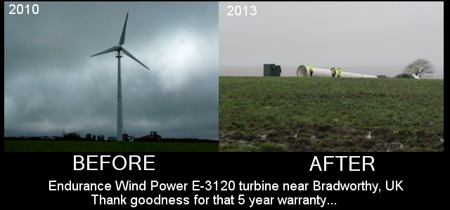Bradworthy Endurance Wind Power E-3120 turbine