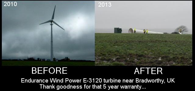 Bradworthy Endurance Wind Power E-3120 turbine