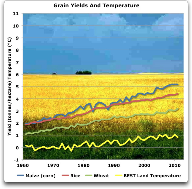 grain yields and temperature