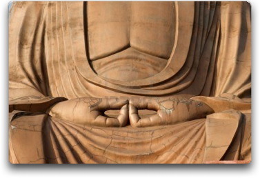 buddhist meditation hands