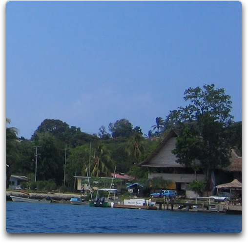 gizo hotel from the water