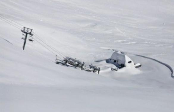 Buried chairlift