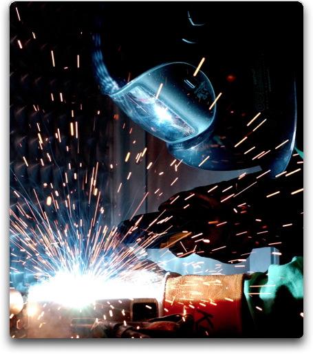 welder sparks