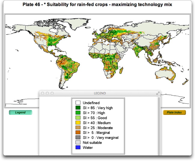 suitability for rain-fed crops