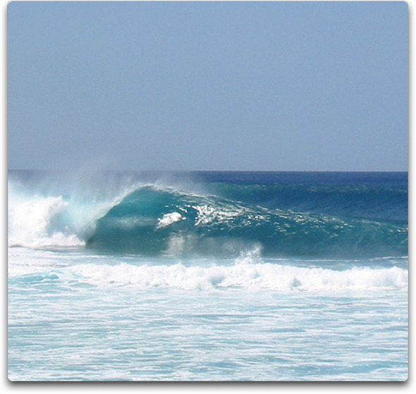 surfing pipeline