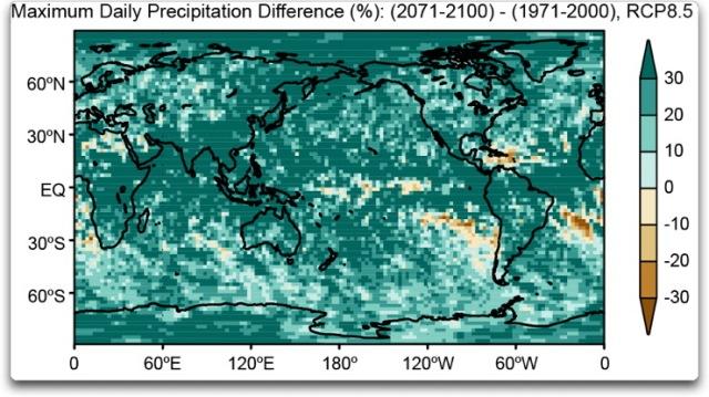 maximum daily precipitation difference