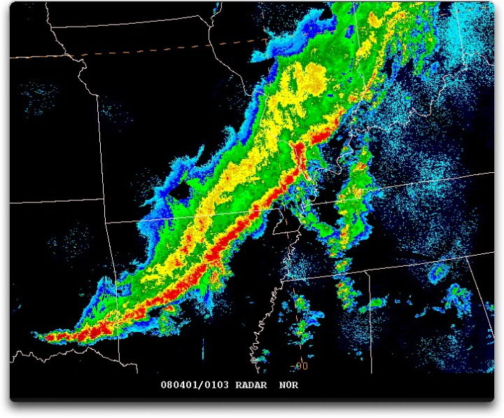 radar image squall line