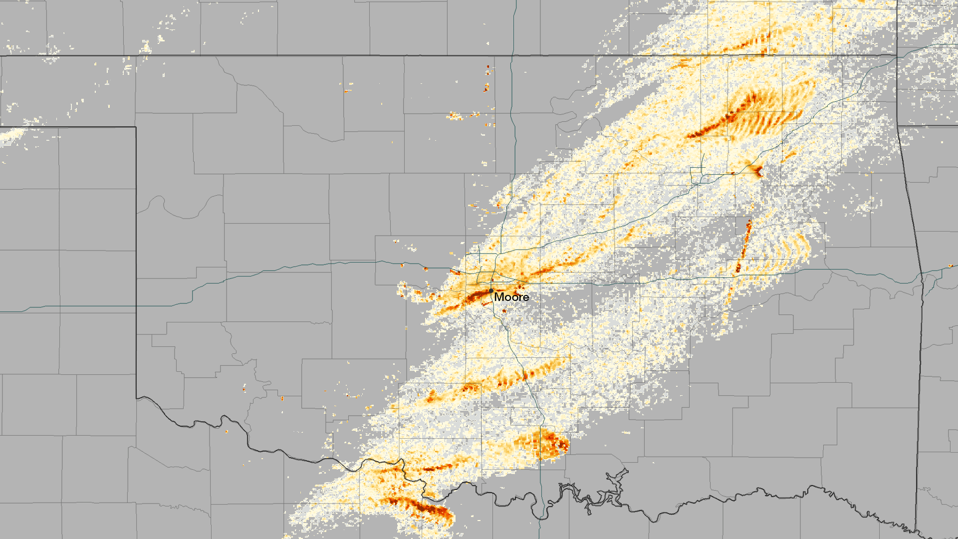 Oklahoma Wind Map.Oklahoma Tornado Officially An Ef5 Wind Speeds Still Less Than