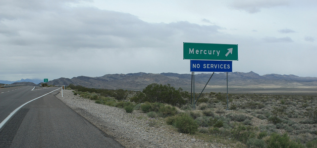 Mercury-nevada-road