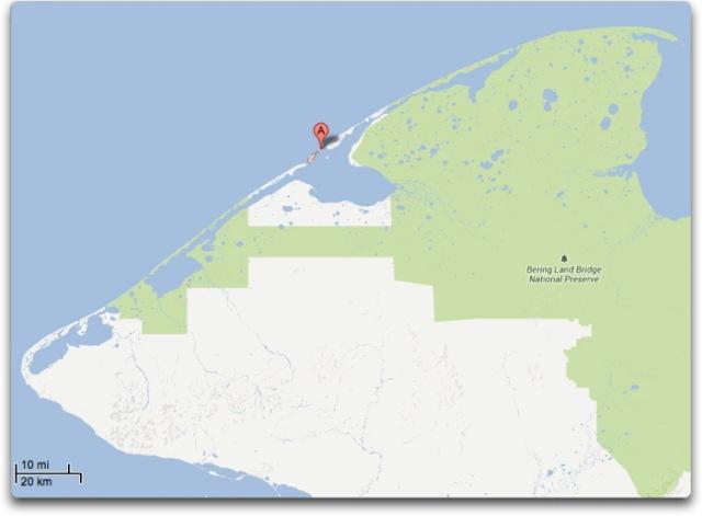 GMAP shishmaref barrier islands