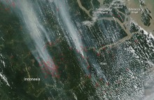 Aerial View of Indonesia's Forest Fires, 2013.
