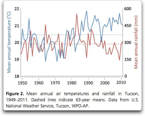 mean annual temperature and rainfall tucson