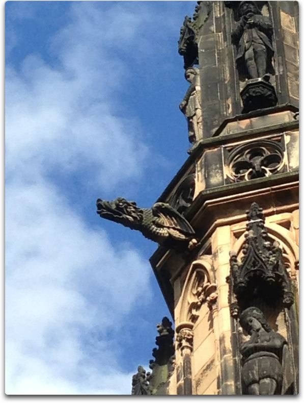 edinburgh scott memorial gargoyle