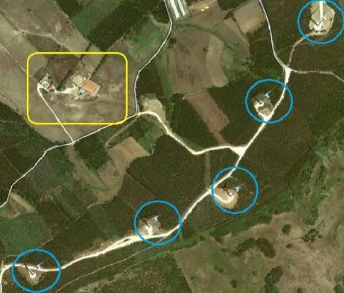 Turbine proximity to farm