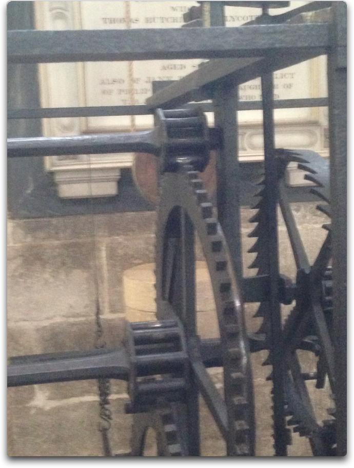 salisbury cathedral clock gears