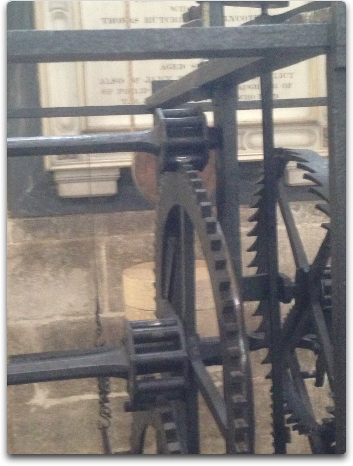 salisbury cathedral clock gears