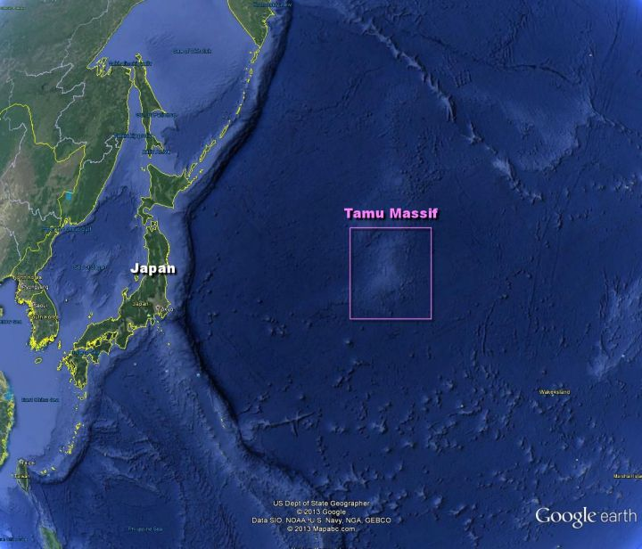 Scientists confirm existence of largest single volcano on ... Pacific Ocean Underwater Map