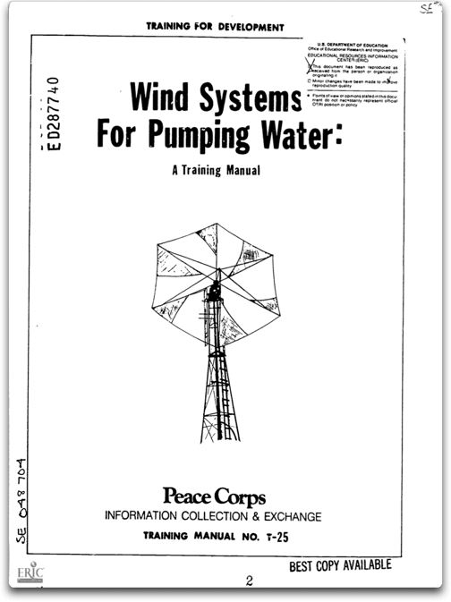 wind systems for pumping water