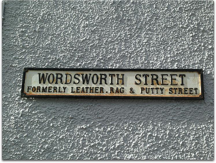 wordsworth street sign lakeland