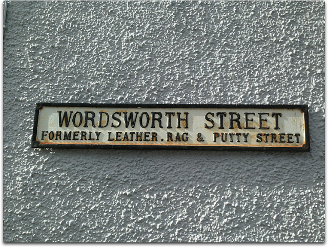 wordsworth street sign lakeland