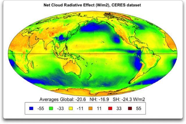 net cloud radiative effect ceres