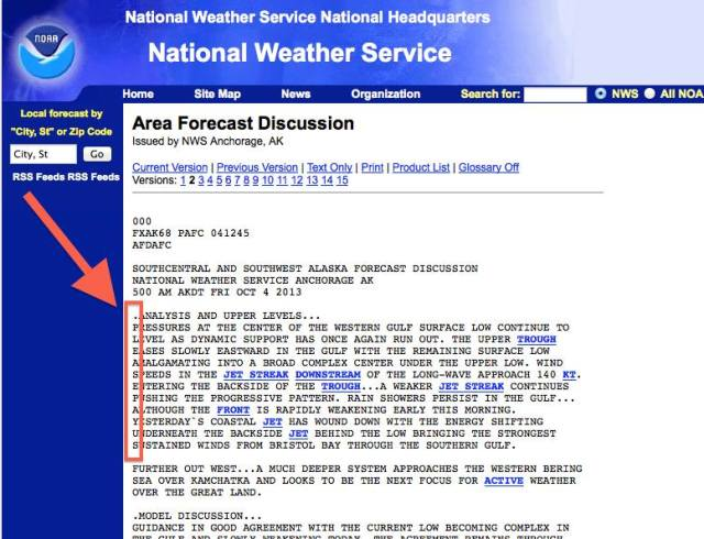 NOAA sends hidden messages in forecast discussion | Watts Up