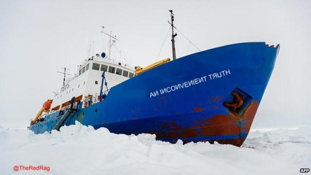 The Antarctic 'research' fiasco – 'would you, could you, in