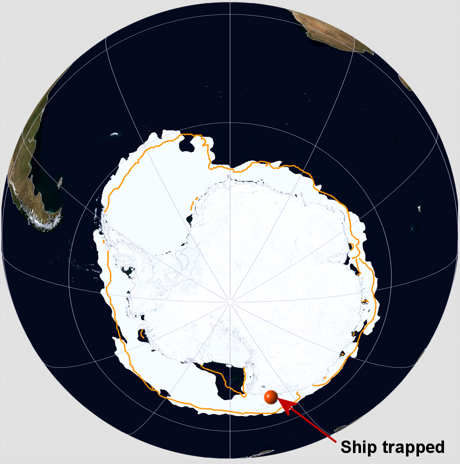 73b929af3e So much sea ice in Antarctica that a research vessel gets stuck, in ...