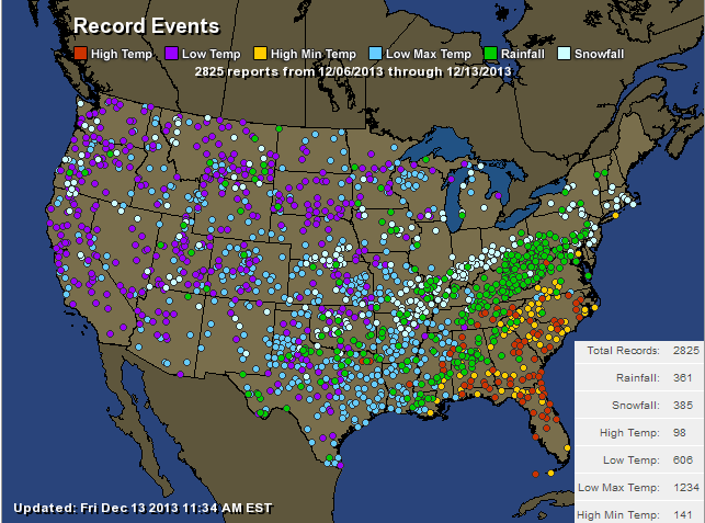 see the map conus records 12 13 13