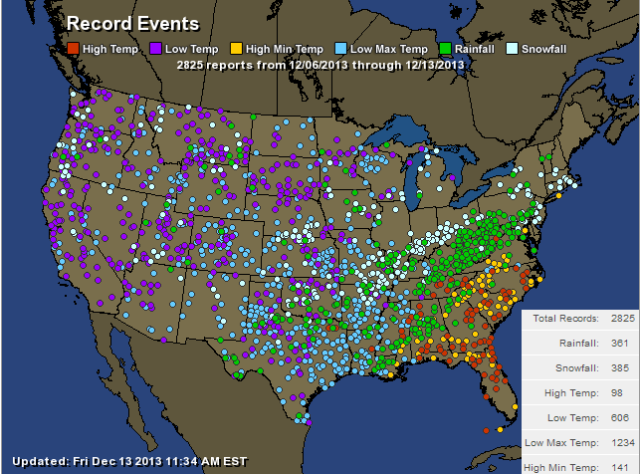 Over 2000 cold and snow records set in the USA this past