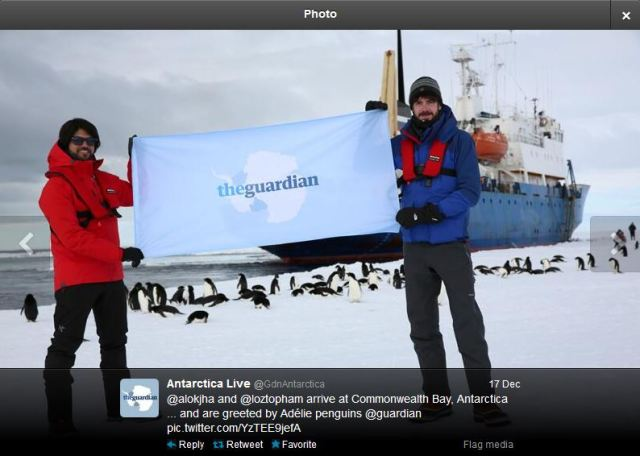 Guardian_antarctica_media_stunt