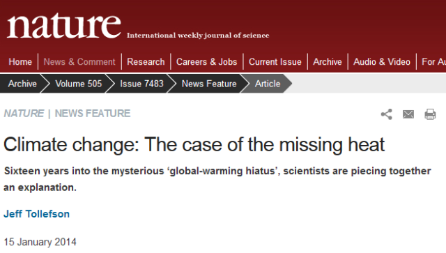The journal Nature embraces 'the pause' and ocean cycles as