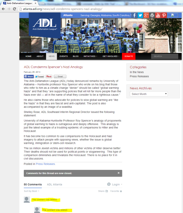 Bizarre: Anti-Defamation League apparently gives a green