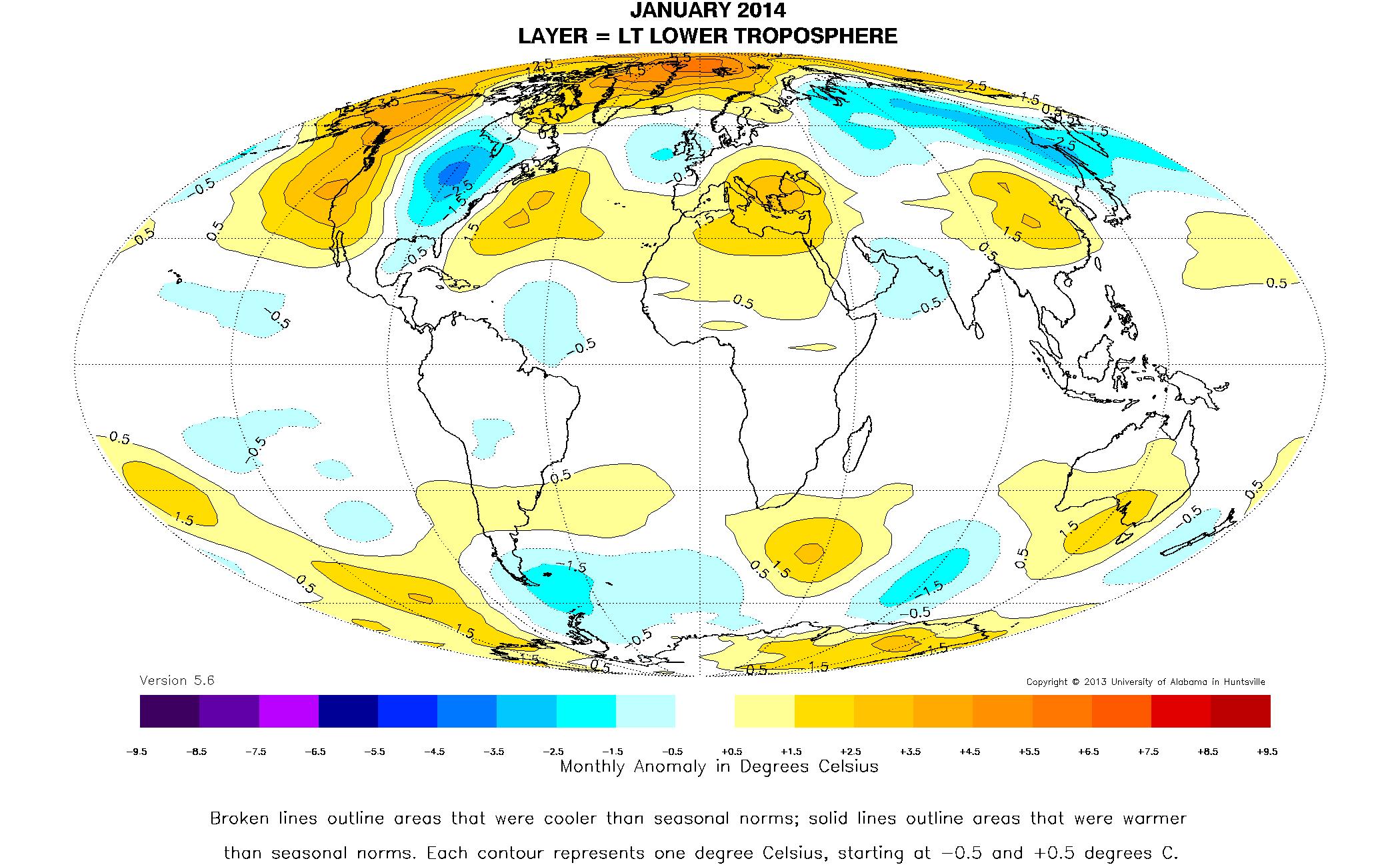 Global Temperature Report January 2014 Upper Michigan was – Earth Temperature Map