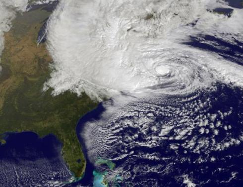 Hurricane Sandy near Landfall. Image: NOAA