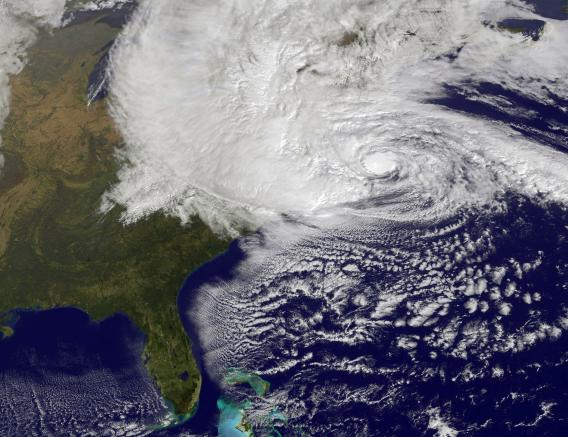 Hurricane Sandy near Landfall. Image: NOAA
