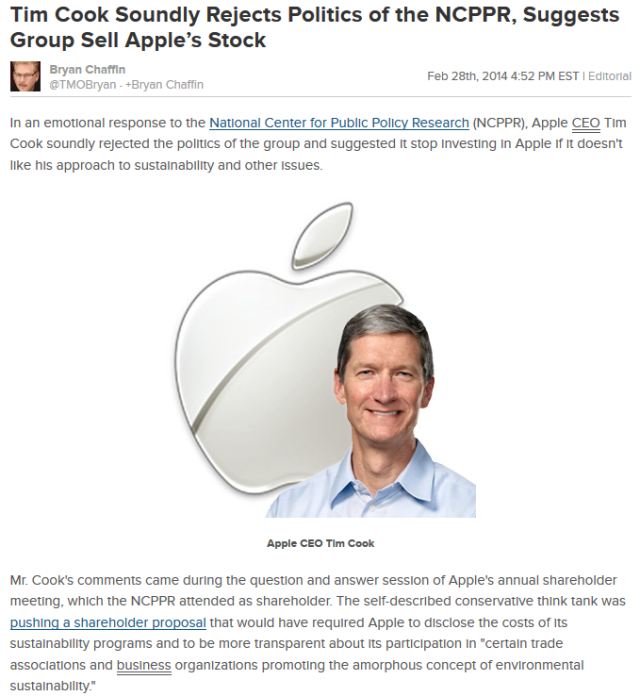 Mind blowing: Apple CEO tells 'deniers' to get out of Apple