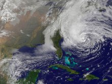 Hurricane Sandy satellite image