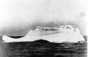 A purported photo of the iceberg that sank the Titanic. Credit: U.S. Coast Guard Historian's Office