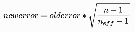 error prop to 1 over n minus 1 v2