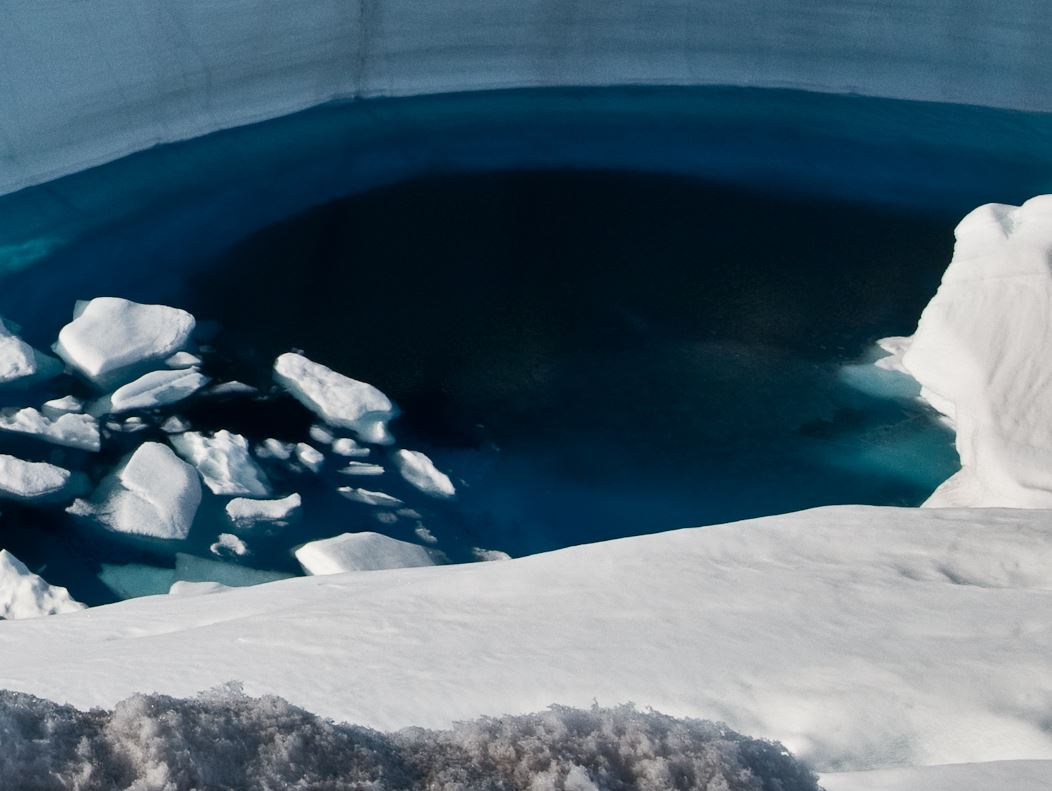 Soot at the bottom of a meltpool in Greenland