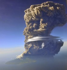 Eruption of Mount Sangeang Api Captured From Above