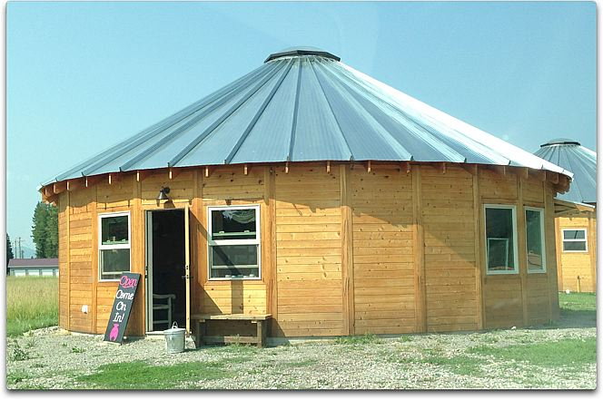 yurt on the flathead res