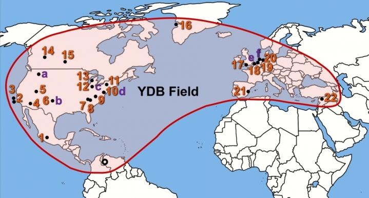 "Результат пошуку зображень за запитом ""Extraordinary Biomass-Burning Episode and Impact Winter Triggered by the Younger Dryas Cosmic Impact ∼12,800 Years Ago"""